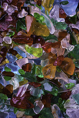 Colorful Pretty Sea Glass Poster by Garry Gay