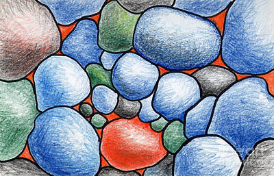 Colorful Rock Abstract Poster