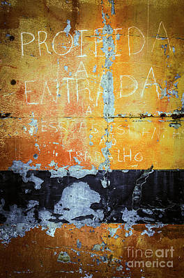 Colorful Rusty Art 1 Poster by Carlos Caetano