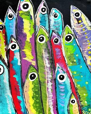 Colorful Sardines Poster by Scott D Van Osdol