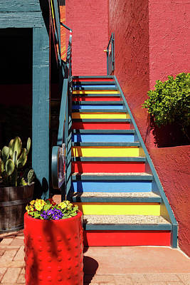 Poster featuring the photograph Colorful Stairs by James Eddy