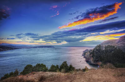 Colorful Sunset - Marin Headlands - Marin County Poster by Jennifer Rondinelli Reilly - Fine Art Photography