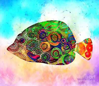 Colorful Tropical Fish Print Poster