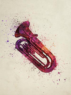 Colorful Tuba 03 Poster