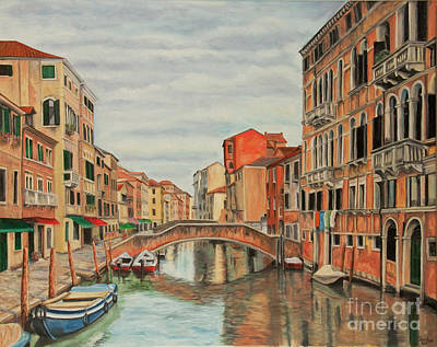 Colorful Venice Poster by Charlotte Blanchard