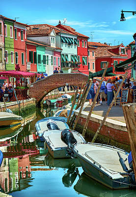 Colorful View In Burano Poster