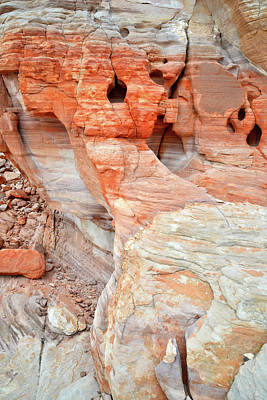 Poster featuring the photograph Colorful Wall Of Sandstone In Valley Of Fire by Ray Mathis