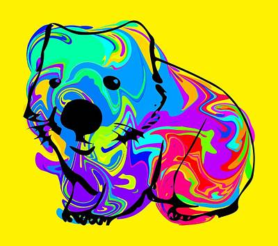 Colorful Wombat Poster by Chris Butler