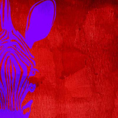 Zebra Animal Colorful Decorative Poster 3 - By  Diana Van Poster by Diana Van