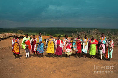 Poster featuring the photograph Colors And Faces Of The Masai Mara by Karen Lewis