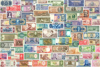 Colors Of Currency Poster by Stephen Younts