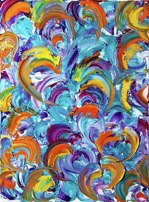 Colors Of My Heart #002 Poster by Eva Vladi