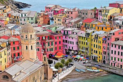Colors Of The Cinque Terre Poster by Frozen in Time Fine Art Photography