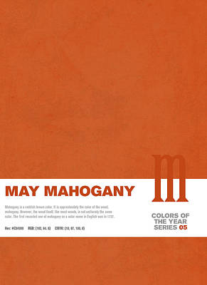 Colors Of The Year Series 05 Graphic Design May Mahogany Poster