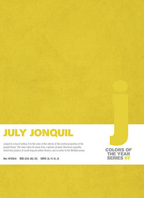 Colors Of The Year Series 07 Graphic Design July Jonquil Poster by Design Turnpike