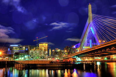 Poster featuring the photograph Colors Of The Zakim Bridge - Boston, Ma by Joann Vitali