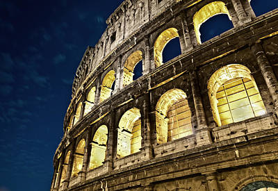 Poster featuring the photograph Colosseum by Brian Bonham
