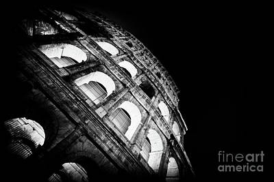 Colosseum In Rome By Night Poster