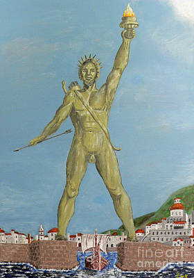 Colossus Of Rhodes Poster by Eric Kempson