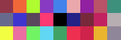 Colour -alphabet- Poster