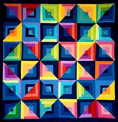 Colour Play Quilt Poster by Carola Ann-Margret Forsberg