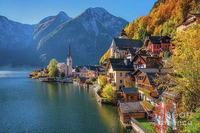 Colourful Hallstatt Poster by JR Photography