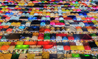 Poster featuring the photograph Colourful Night Market by Pradeep Raja Prints