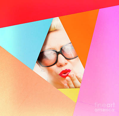 Colourful Paper Pinup Poster by Jorgo Photography - Wall Art Gallery