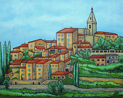 Colours Of Crillon-le-brave, Provence Poster by Lisa Lorenz