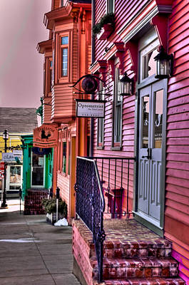 Colours Of Lunenburg Poster by Pam Vickery
