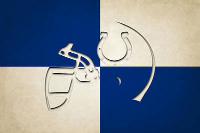 Colts Helmet Art Poster by Joe Hamilton