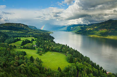 Columbia River Rainbow Poster by Thorsten Scheuermann