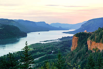 Columbia River With Vista House Poster