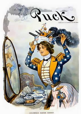 Columbia S Easter Bonnet - Vintage 1901 Poster