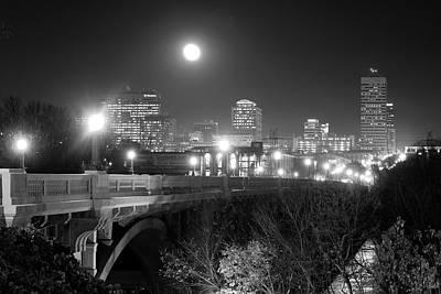 Columbia Skyline At Night Poster