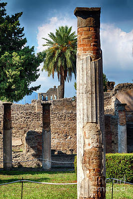 Columns And Walls Of An Ancient Roman Villa  Poster by George Oze