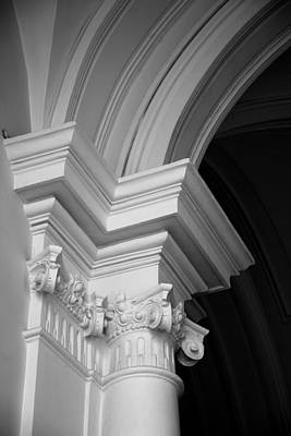 Columns At Hermitage Poster