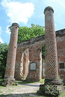 Columns At Old Sheldon Church Ruins Poster by Carol Groenen