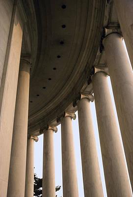 Columns Surround The Jefferson Statue Poster by Rex A. Stucky