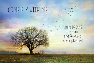 Come Fly With Me Poster by Lori Deiter