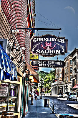 Come Get A Shot At The Gunslinger Saloon Poster by Deborah Klubertanz