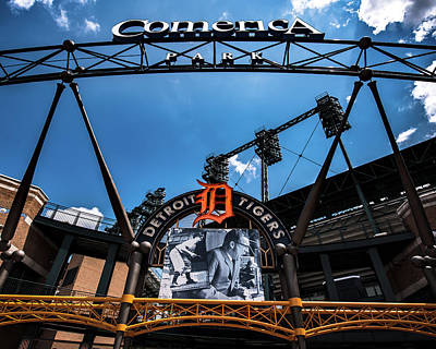 Poster featuring the photograph Comerica Park by Onyonet  Photo Studios