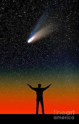 Comet Hale-bopp Poster by Larry Landolfi
