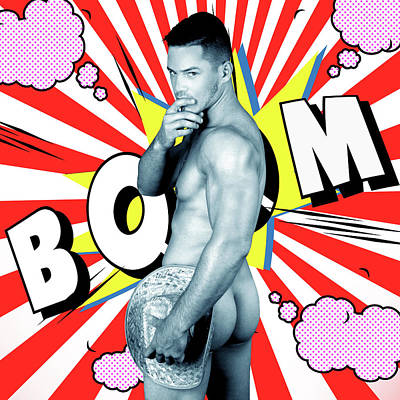 Comics Boy Poster by Mark Ashkenazi