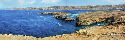 Comino Panorama Poster by Stephan Grixti
