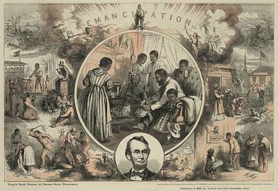 Commemoration Of The Emancipation Poster by Everett