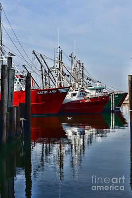 Commercial Fishing Fleet Poster by Paul Ward