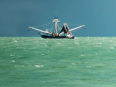 Commercial Fishing In Key West Poster