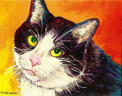 Commission Your Pets Portrait By Artist Carole Spandau Bfa Ecole Des Beaux Arts  Poster
