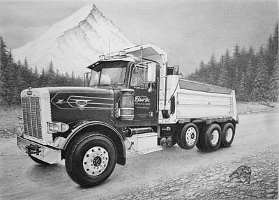 Commissioned Peterbilt Truck Poster